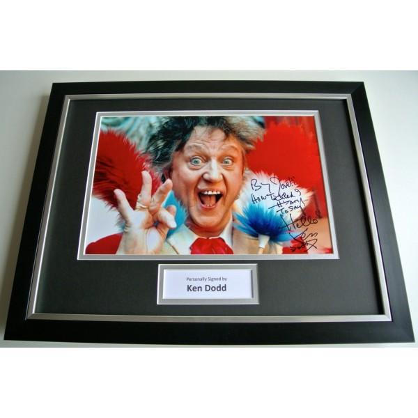 Ken Dodd SIGNED FRAMED Photo Autograph 16x12 display TV & Rare Inscription & COA PERFECT GIFT