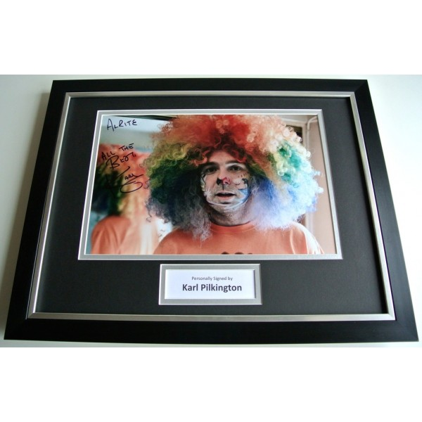 Karl Pilkington SIGNED FRAMED Photo Autograph 16x12 display TV Idiot Abroad COA PERFECT GIFT