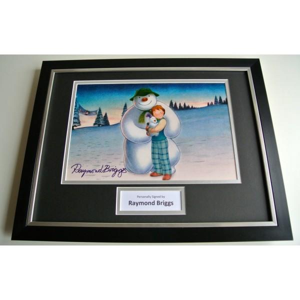 Raymond Briggs SIGNED FRAMED Photo Autograph 16x12 display Snowman TV Film & COA PERFECT GIFT