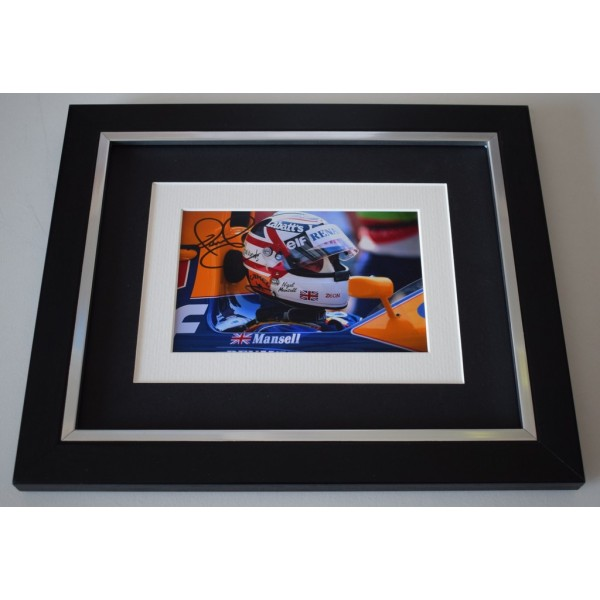 Nigel Mansell SIGNED 10x8 FRAMED Photo Autograph Display Formula 1 F1  AFTAL  COA Memorabilia PERFECT GIFT