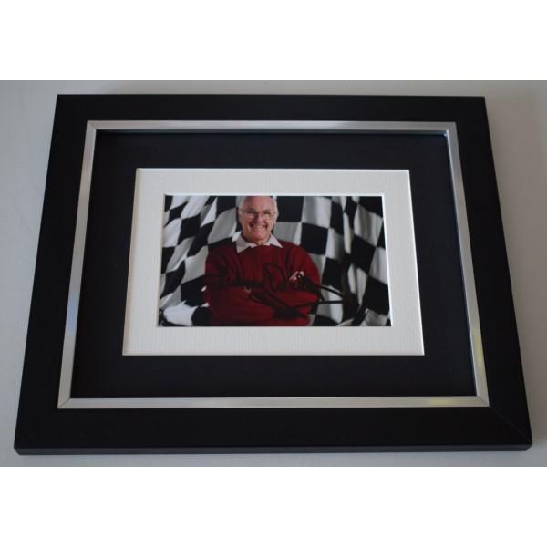 Murray Walker SIGNED 10x8 FRAMED Photo Autograph Display Formula 1 F1 AFTAL  COA Memorabilia PERFECT GIFT