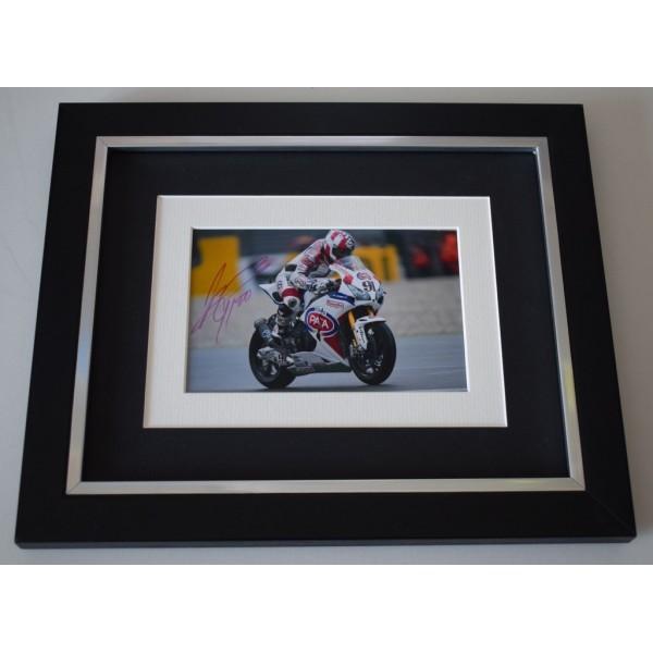 Leon Haslam SIGNED 10x8 FRAMED Photo Autograph Display Superbikes AFTAL  COA Memorabilia PERFECT GIFT