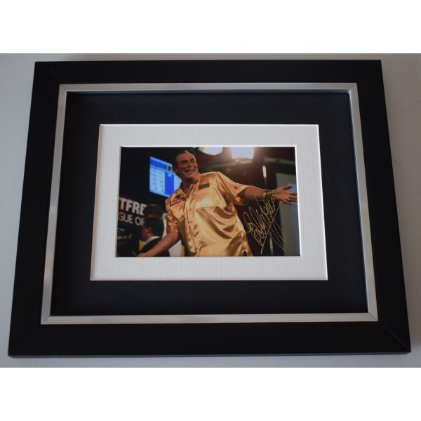 Bobby George SIGNED 10x8 FRAMED Photo Autograph Display Darts Sport AFTAL  COA Memorabilia PERFECT GIFT