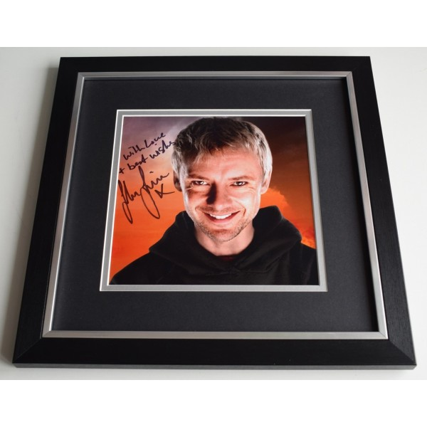 John Simm SIGNED Framed LARGE Square Photo Autograph display Doctor Who  AFTAL  COA Memorabilia PERFECT GIFT