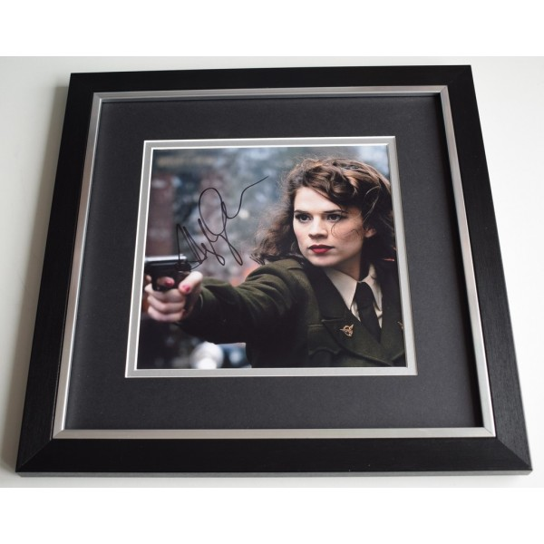 Hayley Atwell SIGNED Framed LARGE Square Photo Autograph display Film TV AFTAL  COA Memorabilia PERFECT GIFT