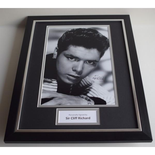 Cliff Richard SIGNED FRAMED Photo Autograph 16x12 display Music  AFTAL & COA Memorabilia PERFECT GIFT