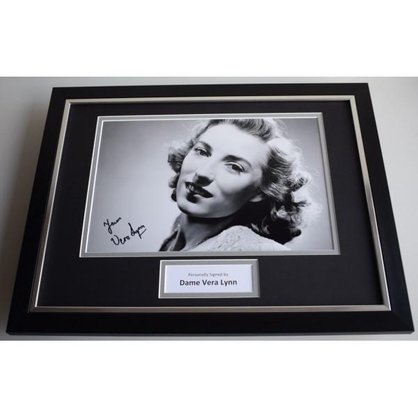 Vera Lynn SIGNED FRAMED Photo Autograph 16x12 display AFTAL & COA Memorabilia PERFECT GIFT