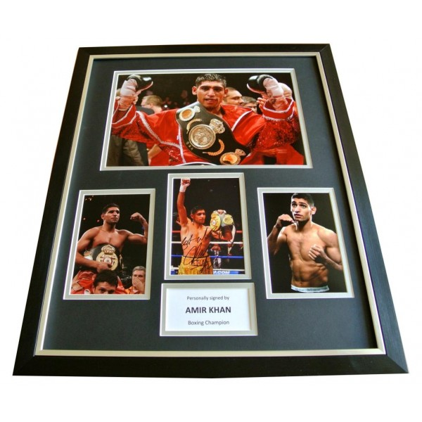 AMIR KHAN hand SIGNED Autograph FRAMED Huge Photo Display BOXING Champion & COA       PERFECT GIFT