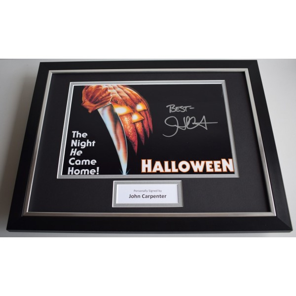 John Carpenter SIGNED FRAMED Photo Autograph 16x12 display Halloween  AFTAL & COA Memorabilia PERFECT GIFT