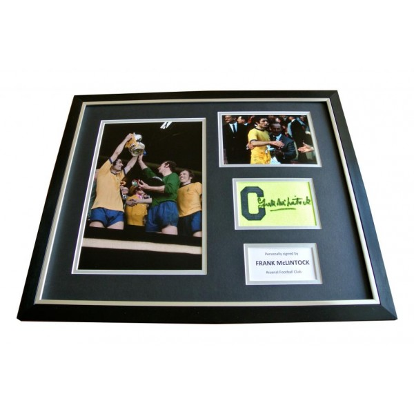 FRANK McLINTOCK hand SIGNED FRAMED Huge Captains Armband Photo Display & COA   PERFECT GIFT
