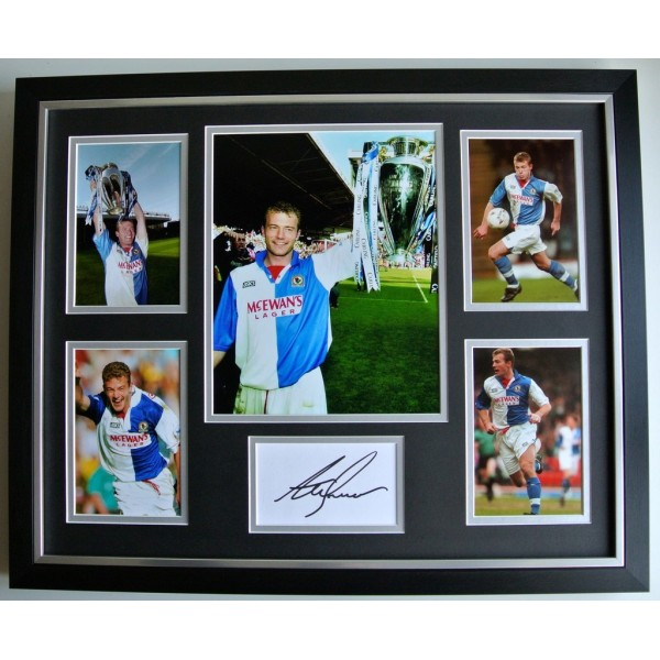 Alan Shearer SIGNED FRAMED Photo Autograph Huge display Blackburn Rovers & COA PERFECT GIFT