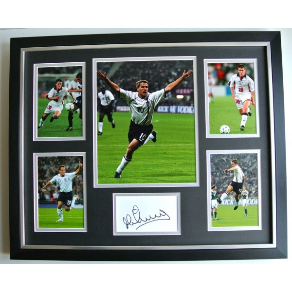 Michael Owen SIGNED FRAMED Photo Autograph Huge display England Football & COA   PERFECT GIFT