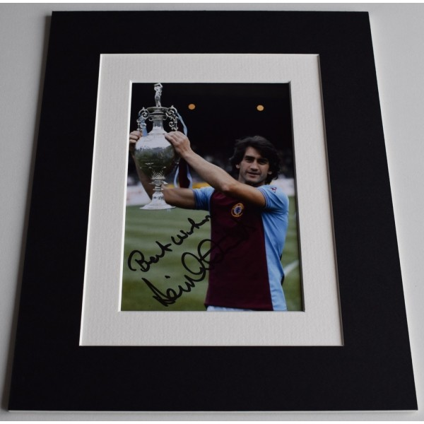 Dennis Mortimer Signed Autograph 10x8 photo display Aston Villa Football   AFTAL  COA Memorabilia