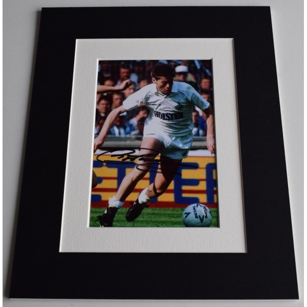 Chris Waddle Signed Autograph 10x8 photo display Tottenham Hotspur Football AFTAL  COA Memorabilia