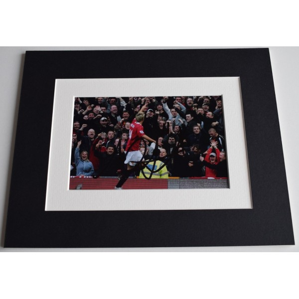 Alan Smith Signed Autograph 10x8 photo display Manchester United Football   AFTAL  COA Memorabilia