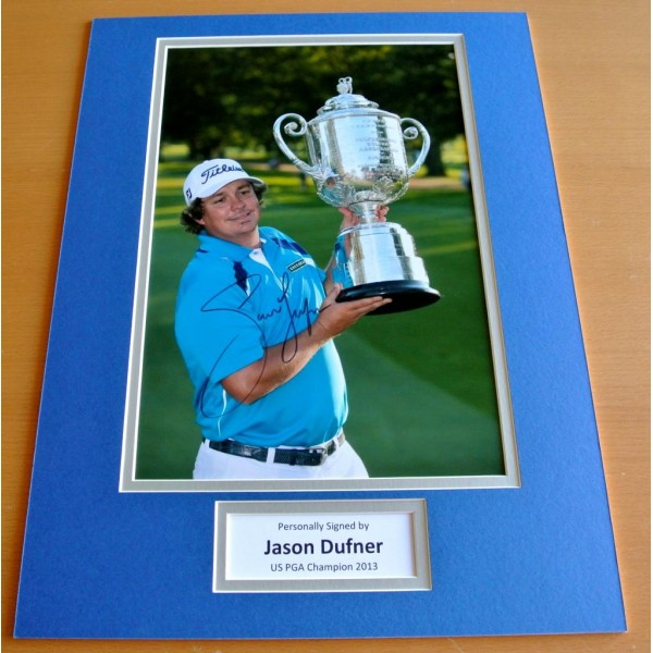 JASON DUFNER hand SIGNED autograph 16x12 photo mount display Golf Champion & COA             CLEARANCE SALE