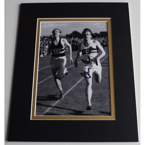 Chris Chataway Signed Autograph 10x8 photo display AFTAL 4 Minute Mile   AFTAL  COA Memorabilia
