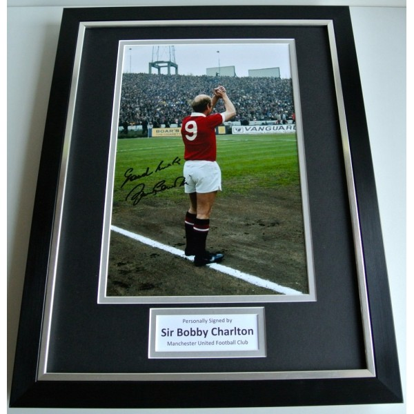 Bobby Charlton SIGNED FRAMED Photo Autograph 16x12 display Manchester United COA  PERFECT GIFT