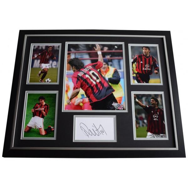 Rui Costa SIGNED Framed Photo Autograph Huge display AC Milan Football  AFTAL  COA Memorabilia