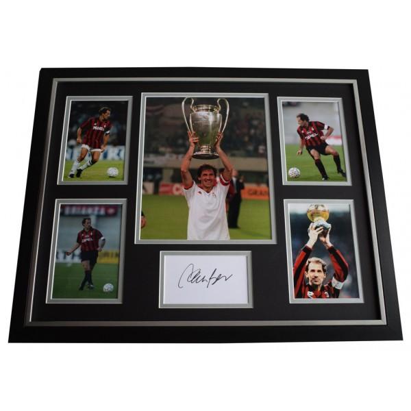 Franco Baresi SIGNED Framed Photo Autograph Huge display AC Milan Football  AFTAL  COA Memorabilia