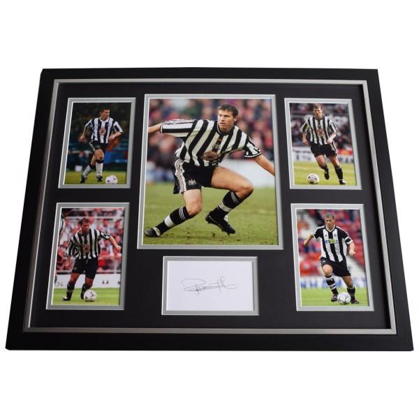 Rob Lee SIGNED Framed Photo Autograph Huge display Newcastle United Football   AFTAL  COA Memorabilia