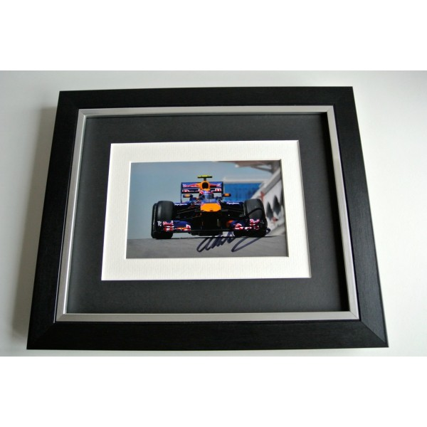 Mark Webber SIGNED 10x8 FRAMED Photo Autograph Display Formula 1 Sport & COA         PERFECT GIFT