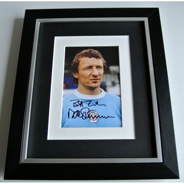 Mike Summerbee SIGNED 10x8 FRAMED Photo Autograph Display Manchester City & COA                PERFECT GIFT