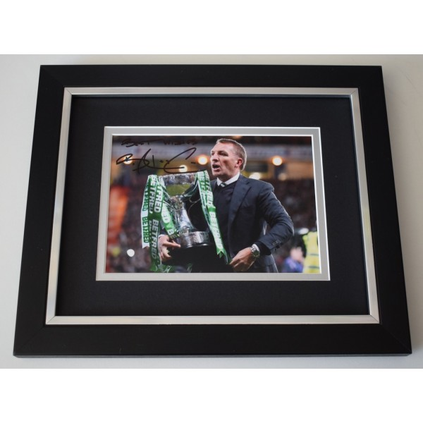 Brendan Rodgers SIGNED 10x8 FRAMED Photo Autograph Display Celtic Football   AFTAL  COA Memorabilia