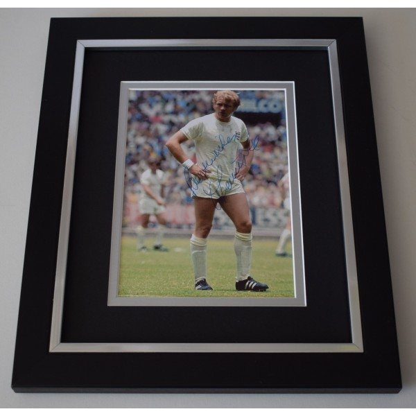 Francis Lee SIGNED 10x8 FRAMED Photo Autograph Display England Football     AFTAL  COA Memorabilia