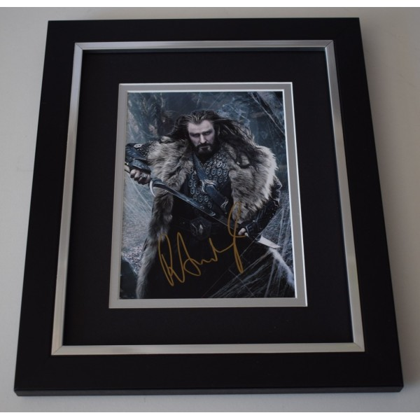 Richard Armitage SIGNED 10x8 FRAMED Photo Autograph Display Hobbit Film  AFTAL  COA Memorabilia