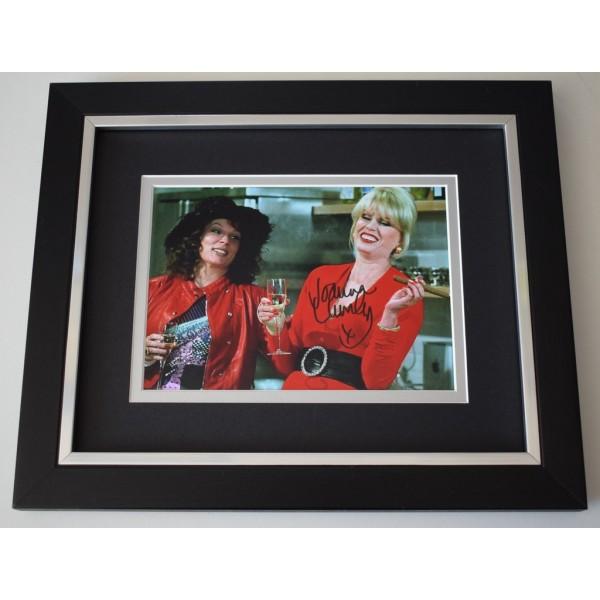 Joanna Lumley SIGNED 10x8 FRAMED Photo Autograph Display TV Ab Fab  AFTAL  COA Memorabilia