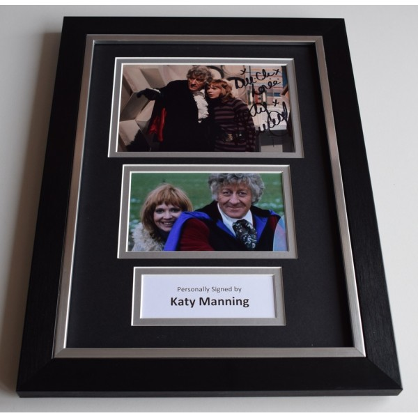 Katy Manning Signed Autograph A4 FRAMED photo display Doctor Who TV   AFTAL & COA Memorabilia PERFECT GIFT