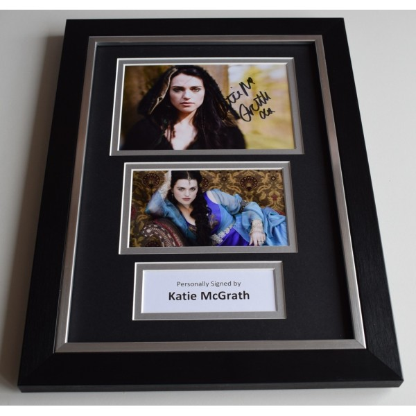 Katie McGrath Signed Autograph A4 FRAMED photo display Merlin TV AFTAL & COA Memorabilia PERFECT GIFT