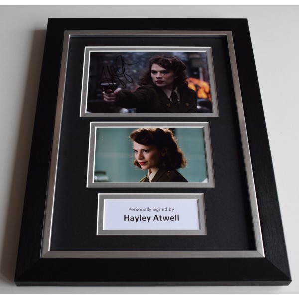 Hayley Atwell Signed Autograph A4 FRAMED photo display CAPTAIN AMERICA AFTAL & COA Memorabilia PERFECT GIFT