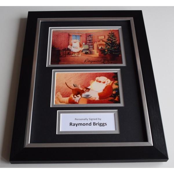 Raymond Briggs Signed Autograph A4 FRAMED photo display Snowman Santa  AFTAL & COA Memorabilia PERFECT GIFT
