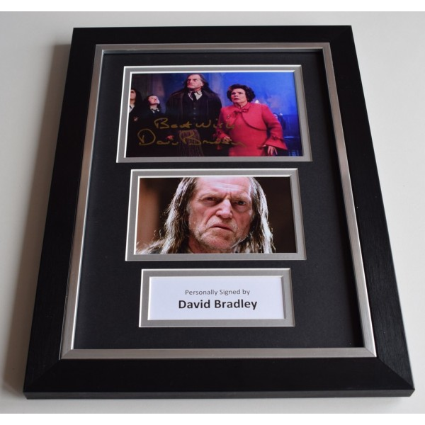 David Bradley Signed Autograph A4 FRAMED photo display Harry Potter  AFTAL & COA Memorabilia PERFECT GIFT