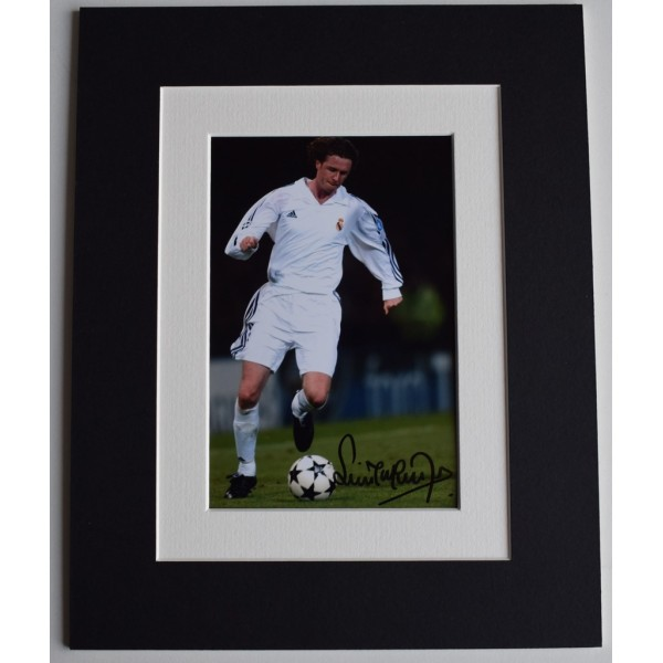 Steve McManaman Signed Autograph 10x8 photo display Real Madrid Football  AFTAL  COA Memorabilia PERFECT GIFT