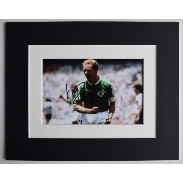 Karl Heinz Rummenigge Signed Autograph 10x8 photo display Germany Football   AFTAL  COA Memorabilia PERFECT GIFT