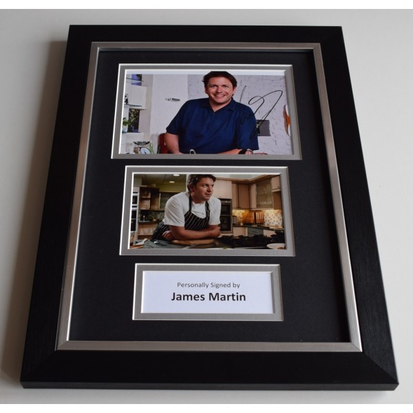 James Martin Signed Autograph A4 FRAMED photo display Saturday Kitchen AFTAL & COA Memorabilia PERFECT GIFT