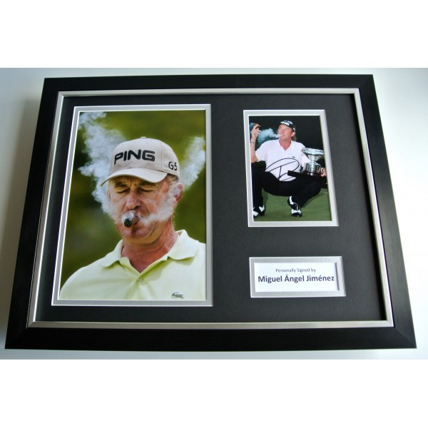 Miguel Angel Jimenez SIGNED FRAMED Photo Autograph 16x12 display Golf Sport & COA