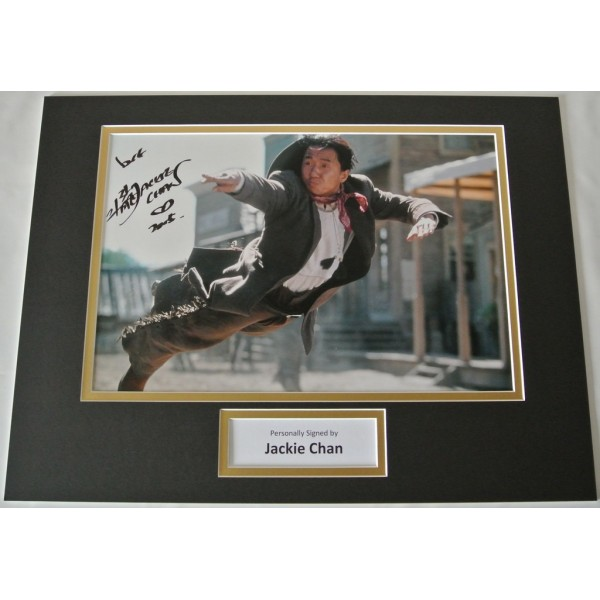 Jackie Chan SIGNED autograph 16x12 photo display Martial Arts Karate Film & COA            PERFECT GIFT