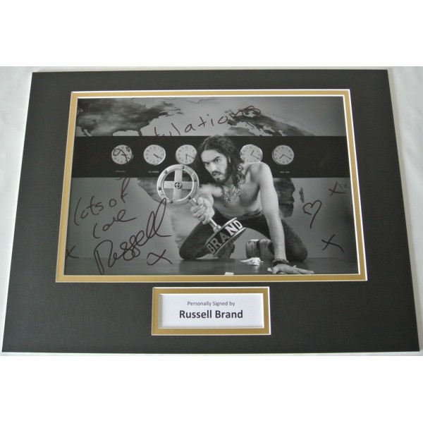 Russell Brand SIGNED autograph 16x12 photo mount display Film TV Comedian & COA     PERFECT GIFT