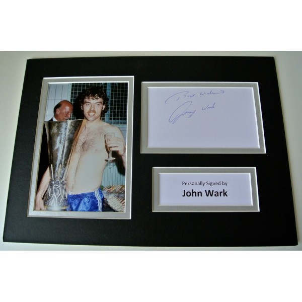 John Wark SIGNED autograph A4 Photo Mount Display Ipswich Football  AFTAL & COA Memorabilia PERFECT GIFT