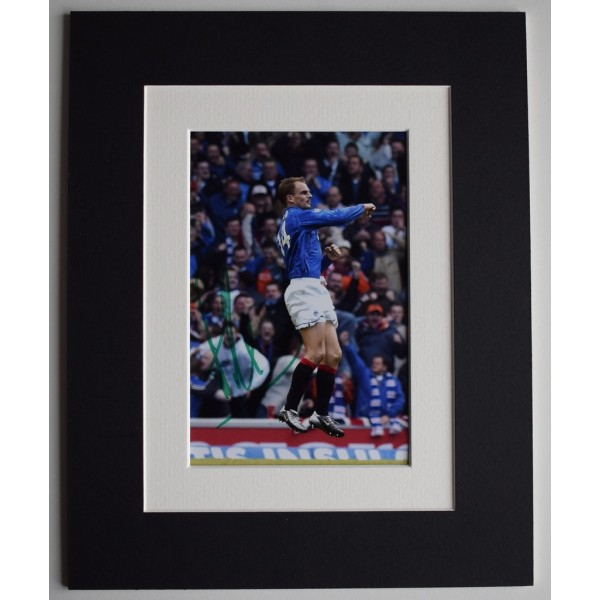 Ronald de Boer Signed Autograph 10x8 photo display Rangers Football     AFTAL  COA Memorabilia PERFECT GIFT