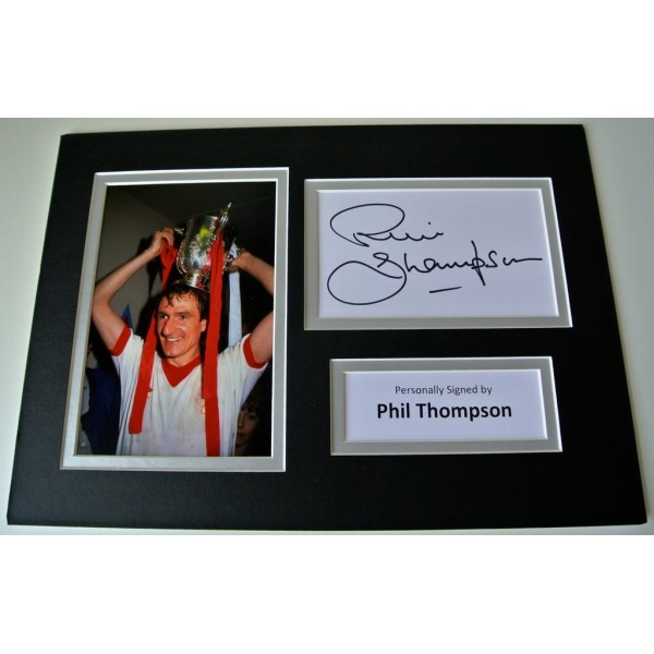 Phil Thompson SIGNED autograph A4 Photo Mount Display Liverpool Football   AFTAL & COA Memorabilia PERFECT GIFT