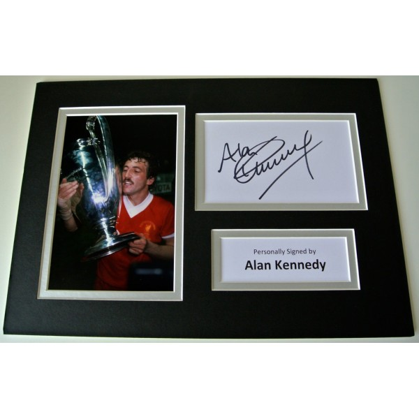 Alan Kennedy SIGNED autograph A4 Photo Mount Display Liverpool Football  AFTAL & COA Memorabilia PERFECT GIFT