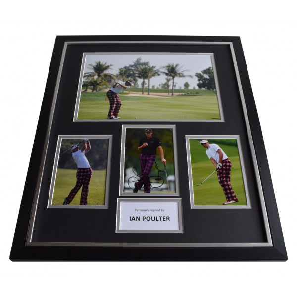 Ian Poulter SIGNED Framed Photo Autograph Huge display England Golf  AFTAL & COA Memorabilia PERFECT GIFT