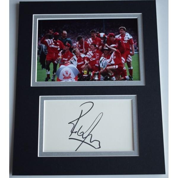 Rob Jones Signed Autograph 10x8 photo display Liverpool Football  AFTAL  COA Memorabilia PERFECT GIFT