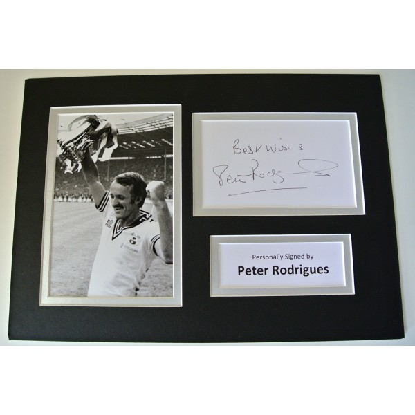 Peter Rodrigues SIGNED autograph A4 Photo Mount Display Southampton football COA