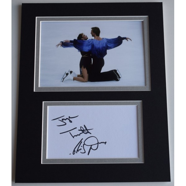 Jayne Torvill & Christopher Dean Signed Autograph 10x8 photo display Ice Skating  AFTAL  COA Memorabilia PERFECT GIFT